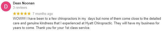 Chiropractic Oak Creek WI Hyatt Chiropractic Patient Testimonial
