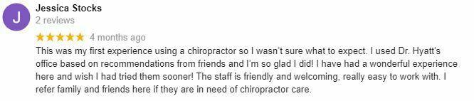 Chiropractic Oak Creek WI Jessica Testimonial