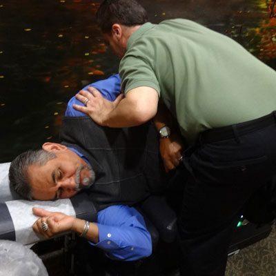 Chiropractor Oak Creek WI Daniel Hyatt Doing Back Adjustment